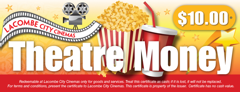 lacombe city cinema gift certificates